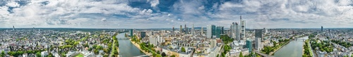 Fotografia  360° Luftbildpanorama Frankfurt am Main