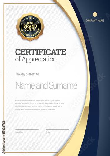 Fotografia  Certificate template