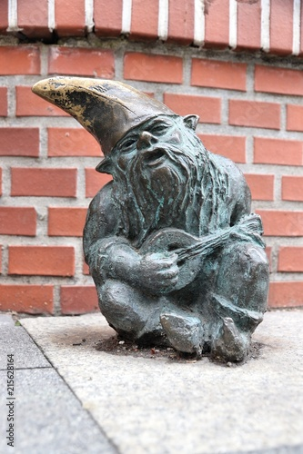 Commemoratif Gnome statue in Wroclaw