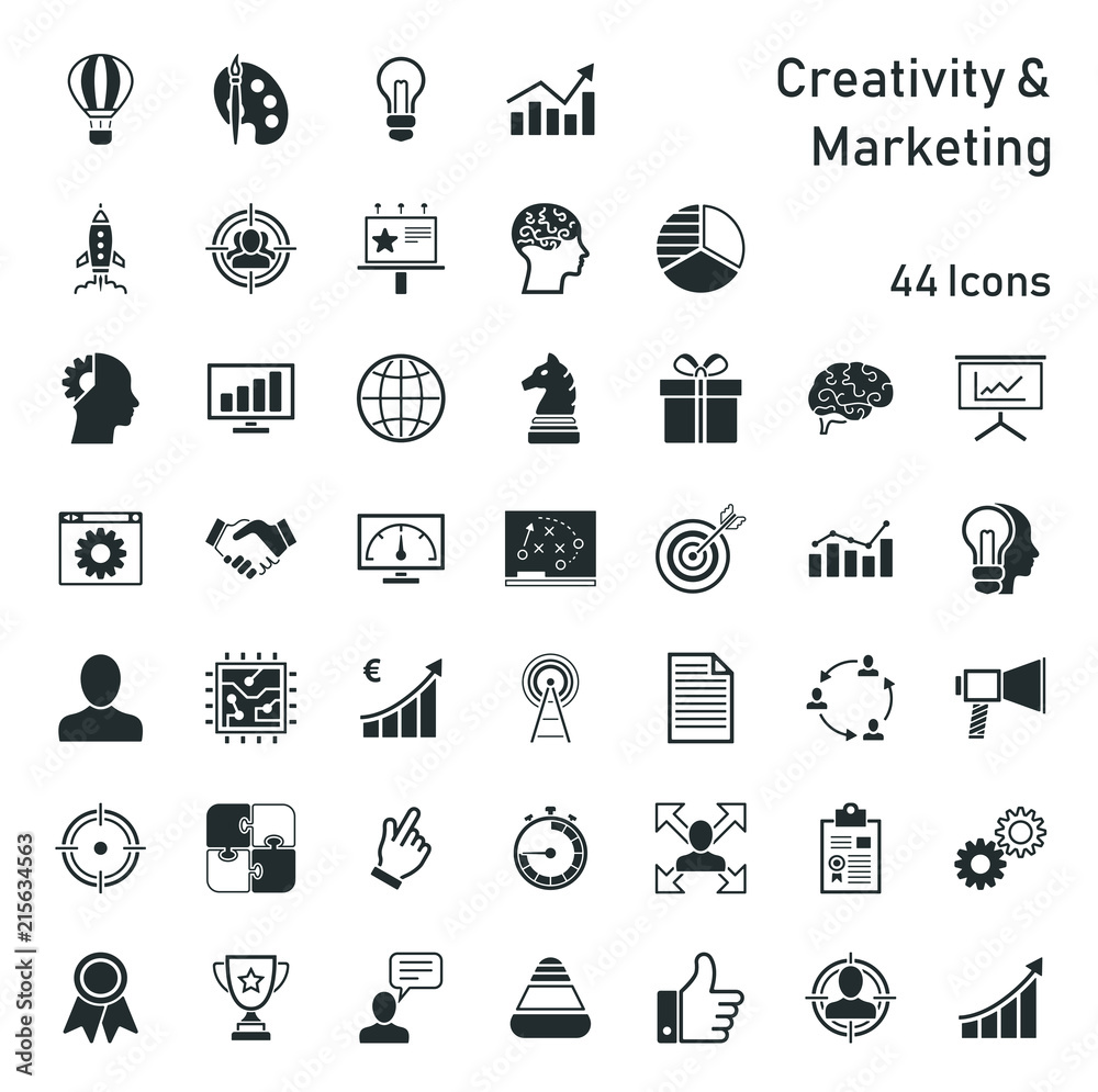 Fototapety, obrazy: Creativity & Marketing - Iconset