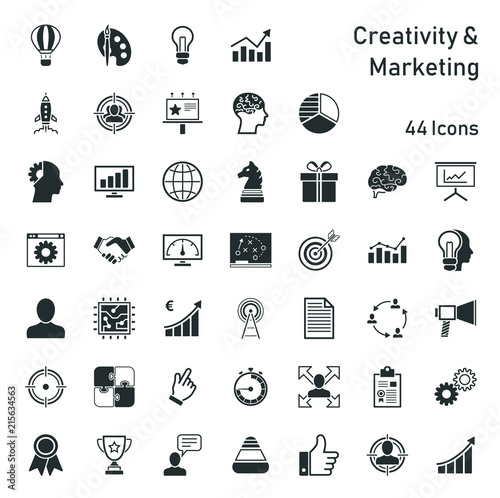 Obraz Creativity & Marketing - Iconset - fototapety do salonu