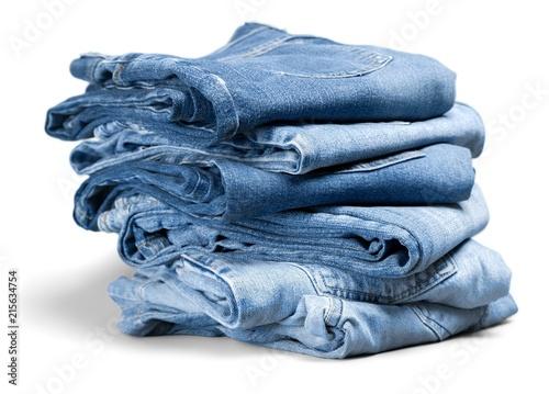 folded denim jeans Plakat