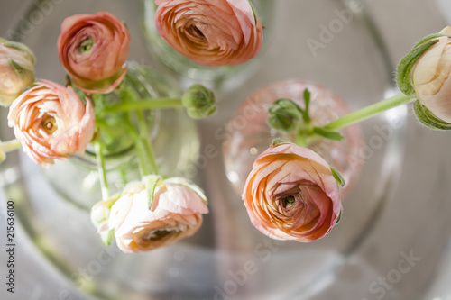 Poster Flower shop beautiful ranunculus flowers