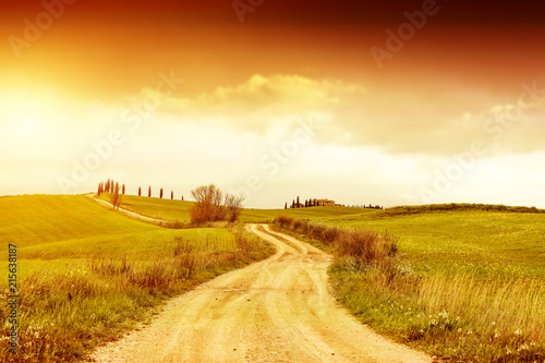 Poster Toscane Autumn background of Tuscany