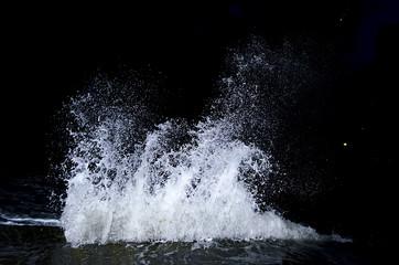 Splashing wave on the Black sea.