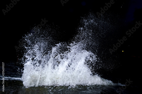 Spoed Fotobehang Water Splashing wave on the Black sea.