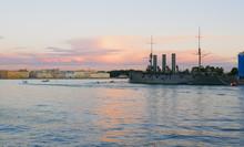 Russian Cruiser Aurora. Saint Petersburg, Russia
