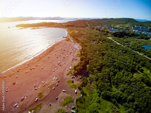 Fotografie, Obraz  Aerial view at Avacha bay beaches