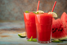 Watermelon Slushie With Lime, ...