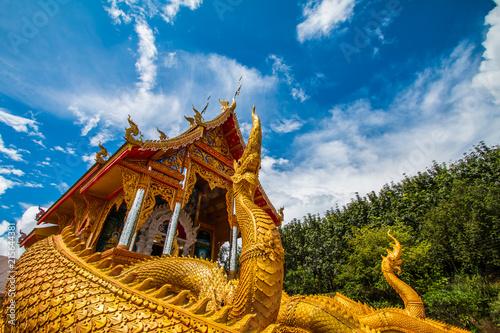 Deurstickers Bedehuis Thai temple