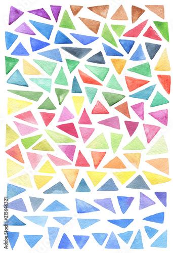 Fototapety geometryczne kolorowe-trojkaty