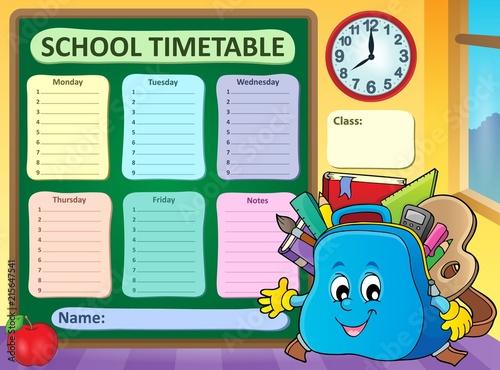 Foto op Plexiglas Voor kinderen Weekly school timetable template 5