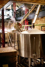 Beer Brewery With Modern Equip...