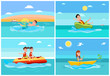 Sport Activities Collection Vector Illustration