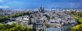 Fototapeta Paryż - Paris aerial view before the storm. France.