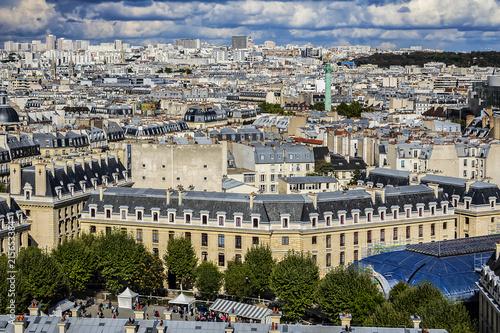 Papiers peints Paris Paris aerial view before the storm. France.