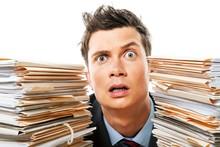 Portrait Of A Surprised Employ...