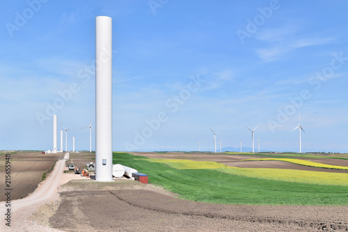 Fotografie, Tablou  Construction site of wind farm in Alibunar, Serbia