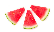 Slices Of Watermelon  Isolated...