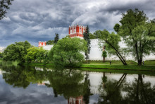 General View Of The Novodevichy Convent In Moscow