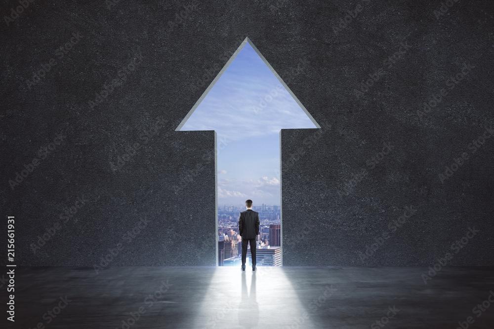 Fototapety, obrazy: businessman in arrow exit
