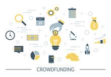 Crowdfunding Concept Illustrat...