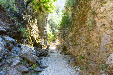 Imbros gorge in Crete