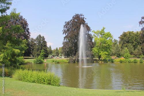 Lac du parc de l'Orangerie à Strasbourg Alsace France #215666532