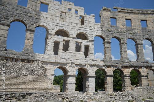 Fotografia  Amfiteatr rzymski w Puli, Istria, Chorwacja