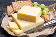 Block Of Aged Cheddar Cheese, ...