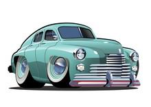 Vector Cartoon Retro Car