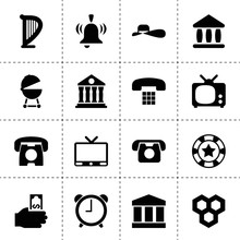 Set Of 16 Classic Filled Icons
