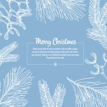 Frosty Vector Christmas Card