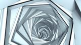 Fototapeta Perspektywa 3d - Abstract technology tunnel 3D render