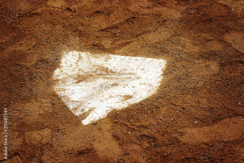 Baseball Homeplate in Brown Dirt for Sports American Past Time