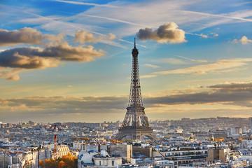 Fototapeta Paryż Aerial panoramic cityscape view of Paris, France