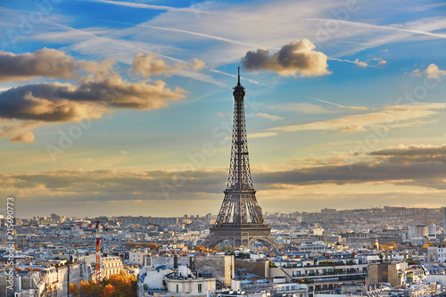 Recess Fitting Paris Aerial panoramic cityscape view of Paris, France
