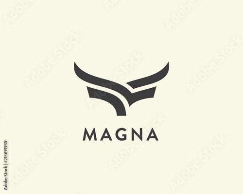 Photo Abstract cow steak premium logo design