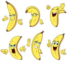 Banana Cartoon Set