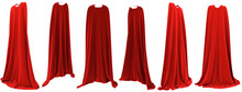 Superhero Red Cape Hanging From Shoulders Set