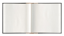 Open Book Paper Pages Isolated White Background