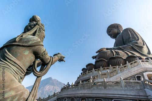 Photo  Giant Buddha/Po Lin Monastery in Hong Kong, Lantau Island