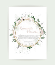 Floral Wreath With Green Eucal...