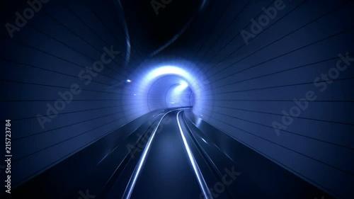 Tunnel Ride, Metro, transportation, Underground City background.