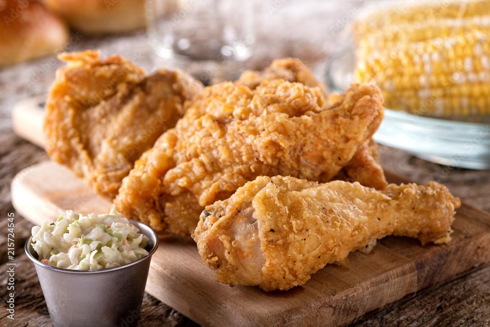 Obraz Crispy Fried Chicken fototapeta, plakat