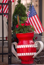 Red Planter Made From Recycled...