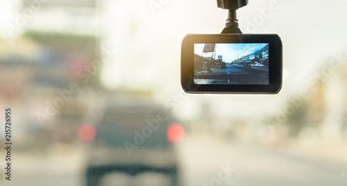 Front Car Camera Recorder for backup Evidence in Road Accident Obraz na płótnie
