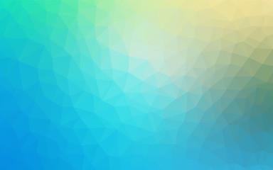 Light Blue, Green vector gradient triangles pattern.