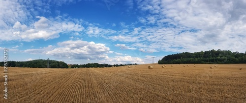 Foto op Plexiglas Cultuur scenic panorama view of natural landscape under a cloudy sky