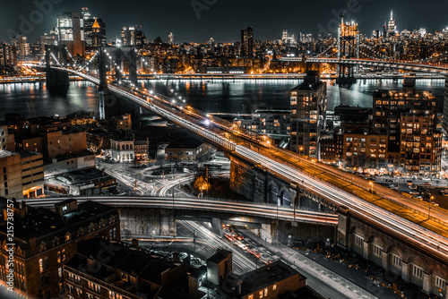 brooklyn bridge night exposure
